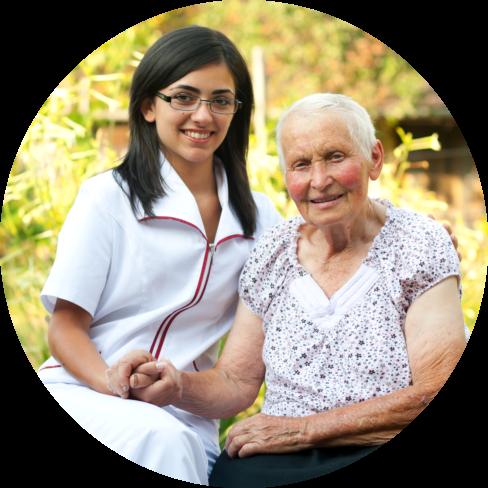 nurse with an elder