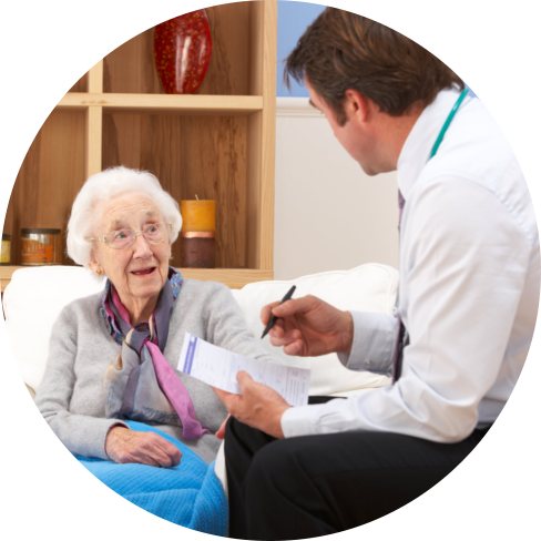 doctor asking questions to an elder